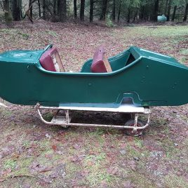 Origenal and restored K-750 Sidecar Boat