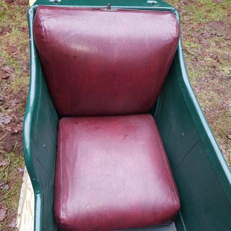 Oak framed origenaly built seat set in Red Feux leather