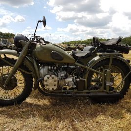 M-72 Motorcycle 1954 – fitted with first type 1944 side car