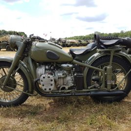 M-72 Motorcycle 1951 – fitted with first type side car