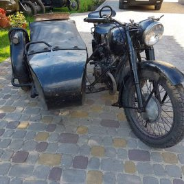 M-72 Motorcycle 1949 – fitted with first type side car